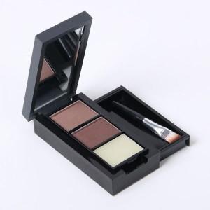 M.N Original Black & Brown Powder Eyebrow Enhancer with Fixer - Great Material