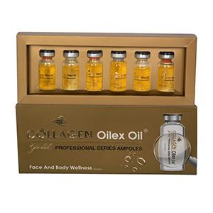 Oilex Oil Skin Anti-Aging Collagen Gold Ampule, 6 Ampules