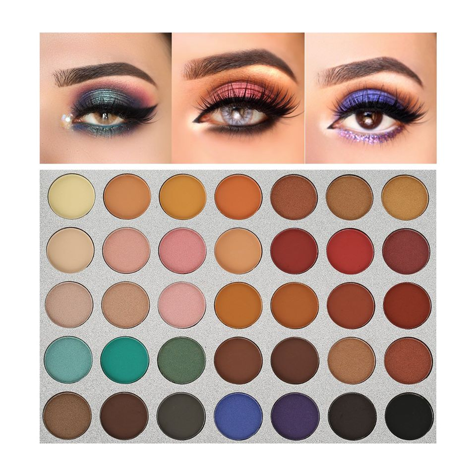 Beauty Glazed Eyeshadow Palette Pigmented Colors Makeup Pallets Eye Makeup 35 Colors