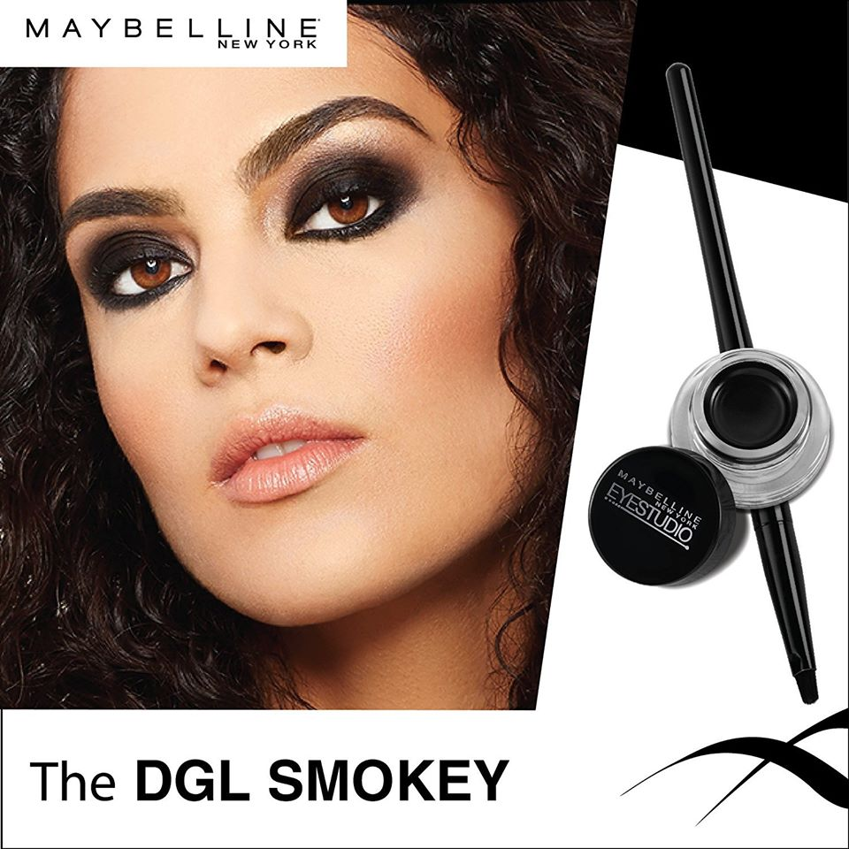 Maybelline New York Makeup Eyestudio Lasting Drama Gel Eye Liner, Blackest Black,