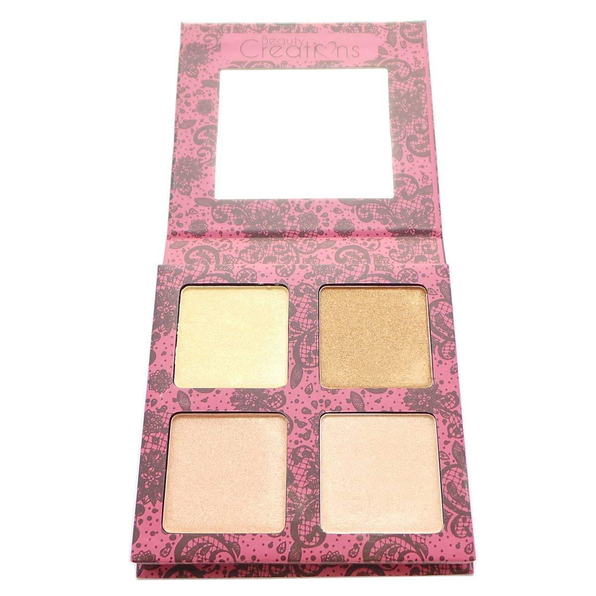 Beauty Creations Glow Highlight Palette 4 Powder (SCANDALOUS GLOW)
