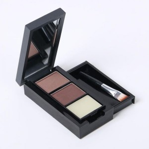 M.N Original Black & Brown Powder Eyebrow Enhancer with Fixer - Great Material