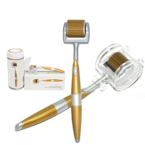 Derma Roller ZGTS Luxury Titanium Micro Needle,0.75Ml gold